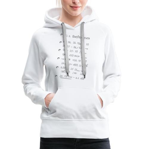 Note DuePerCento - Felpa con cappuccio premium da donna