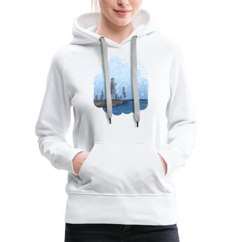 Première neige - Sweat-shirt à capuche Premium pour femmes