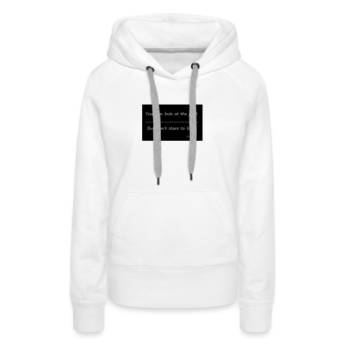past - Vrouwen Premium hoodie