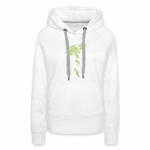 færøerne - Dame Premium hættetrøje
