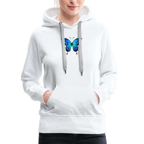 Blå fjäril - Premiumluvtröja dam
