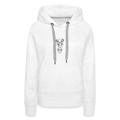 Cute girl panda - Women's Premium Hoodie