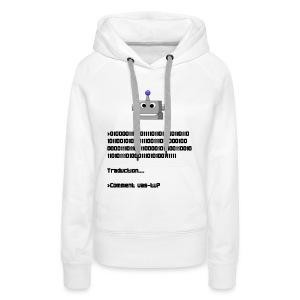 Salutation robotique - Sweat-shirt à capuche Premium pour femmes