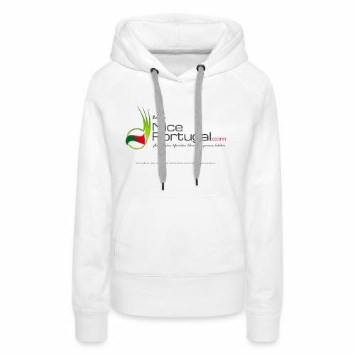 NicePortugal.com Logo - Felpa con cappuccio premium da donna