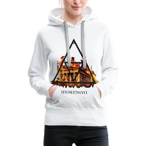 DANGEROUS FIRE - Felpa con cappuccio premium da donna