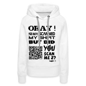 QR shirt for nosy people - Vrouwen Premium hoodie