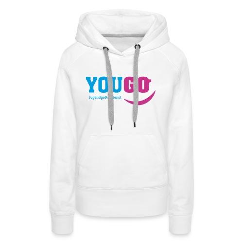 YouGo Blau-Magenta - Frauen Premium Hoodie
