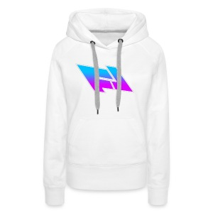 blue & purple gradient (FOX LEADER LOGO) - Women's Premium Hoodie