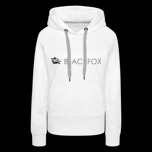 DarkFox White Collection - Felpa con cappuccio premium da donna