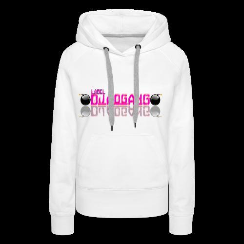 djAdgAng Logo 2 Bomb Rose - Sweat-shirt à capuche Premium pour femmes