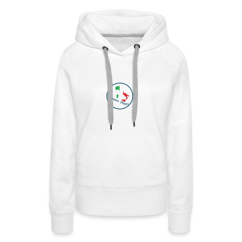 SC logo - Felpa con cappuccio premium da donna
