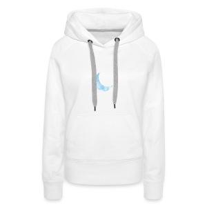 Watercolor moon design - Vrouwen Premium hoodie