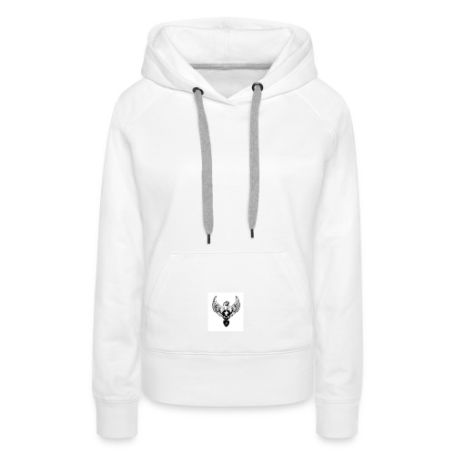 Power skullwings - Sweat-shirt à capuche Premium pour femmes