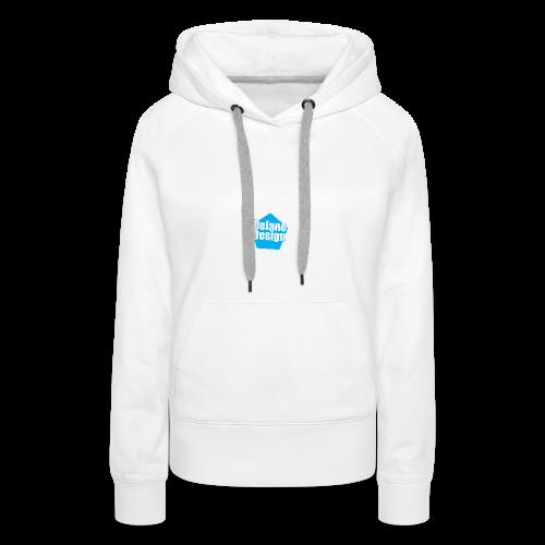 DelanoDesign - Logo Blauw - Vrouwen Premium hoodie