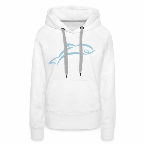 Dauphin et nageur - Sweat-shirt à capuche Premium pour femmes