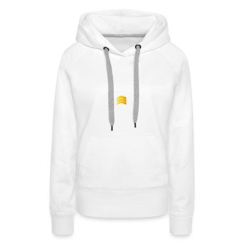 Wit en black - Vrouwen Premium hoodie