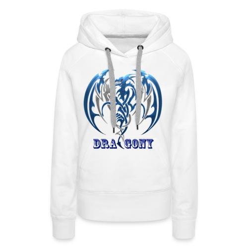 dragony 1 - Sweat-shirt à capuche Premium pour femmes