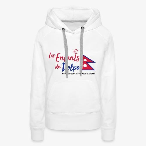 Les Enfants du Doplo - Grand Logo Centré - Sweat-shirt à capuche Premium pour femmes