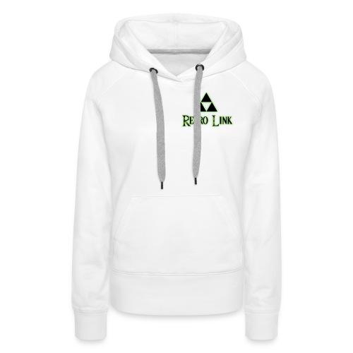 Logo Retro Link - Sweat-shirt à capuche Premium pour femmes