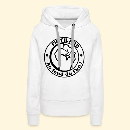 logo Fistiland Noir - Sweat-shirt à capuche Premium pour femmes