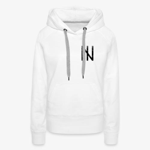Black Logo on White - Frauen Premium Hoodie