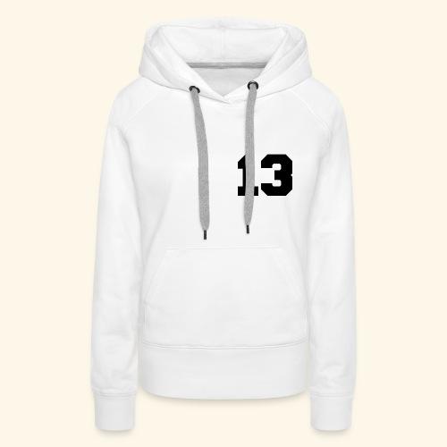 13 black - Frauen Premium Hoodie