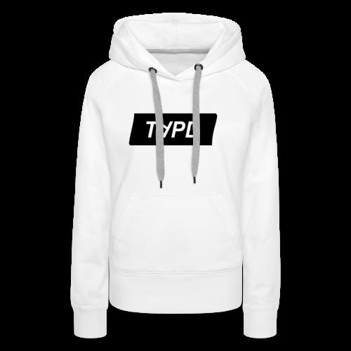TAPE SHAPE BLACK - Vrouwen Premium hoodie