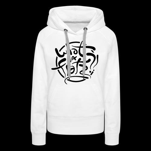 WDF LOGO ZWART - Vrouwen Premium hoodie