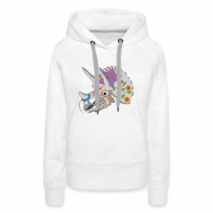 Day of the extinct: Triceratops - Women's Premium Hoodie