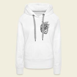 Kolibri Herz - Frauen Premium Hoodie