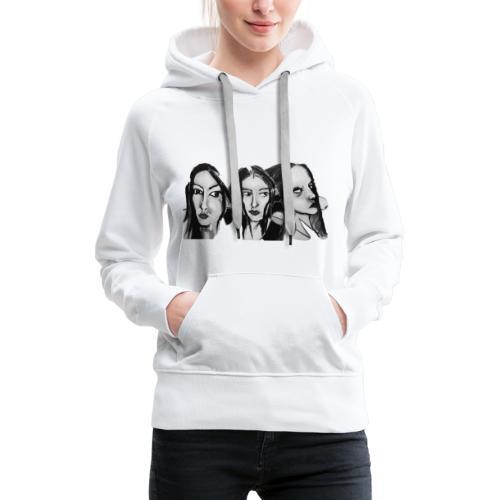 Drei Frauen - Frauen Premium Hoodie