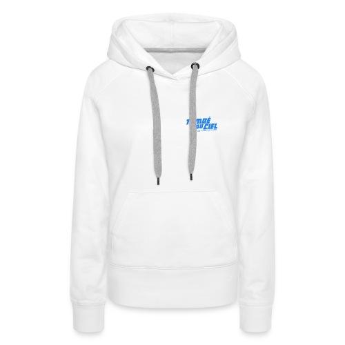 Logo TDC BLEU 2018 - Sweat-shirt à capuche Premium pour femmes