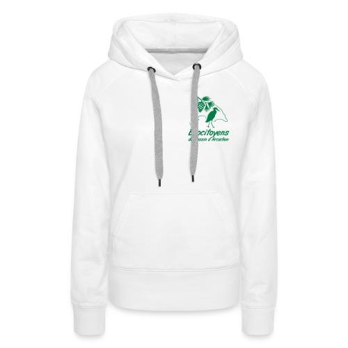 LOGO EBA POITRINE - Sweat-shirt à capuche Premium pour femmes