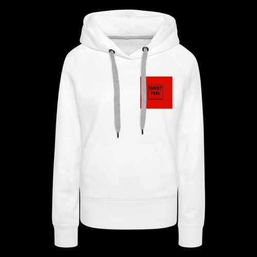 WEST FEEL logo rouge - Sweat-shirt à capuche Premium pour femmes