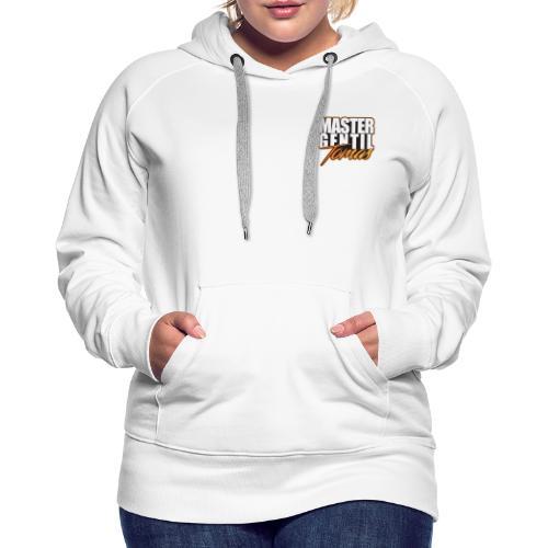 master gentil tomas logo - Sweat-shirt à capuche Premium pour femmes