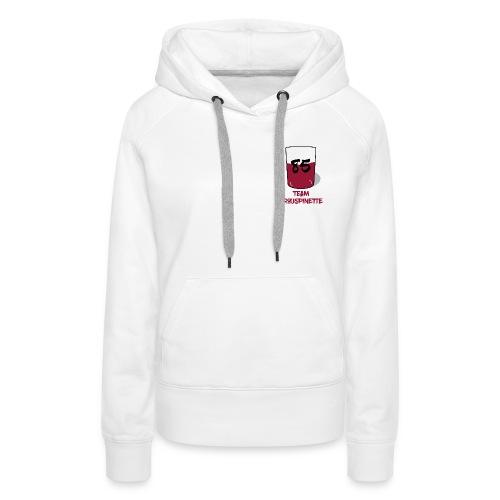Team Trouspinette - Sweat-shirt à capuche Premium pour femmes
