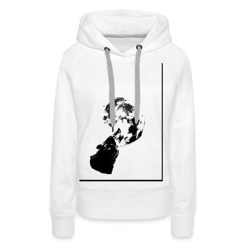 lobo1 - Sudadera con capucha premium para mujer