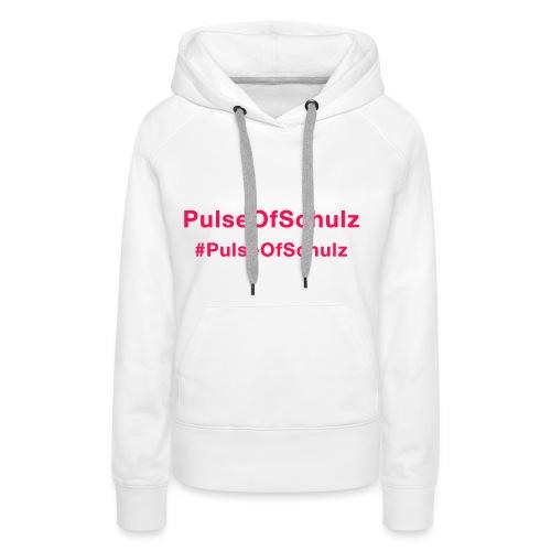 PulseOfSchulz - Schriftzug rot - Frauen Premium Hoodie