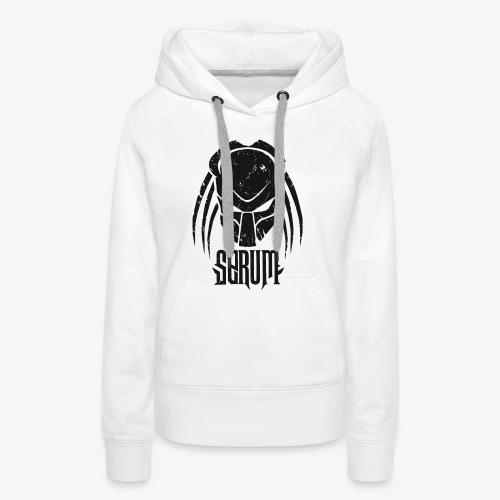 Serum Logo /Lettring Black - Sweat-shirt à capuche Premium pour femmes