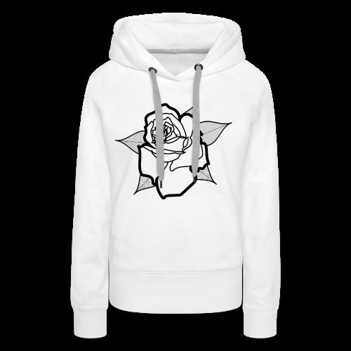 Big Rosa - Sweat-shirt à capuche Premium pour femmes