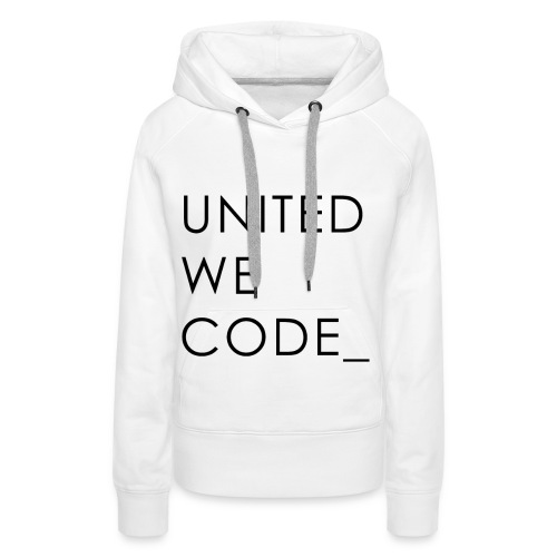 United We Code - Sweat-shirt à capuche Premium pour femmes
