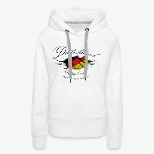 Vintage Deutschland - Frauen Premium Hoodie
