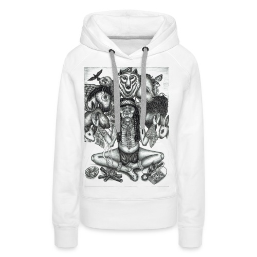 The Shaman (native american) - Women's Premium Hoodie