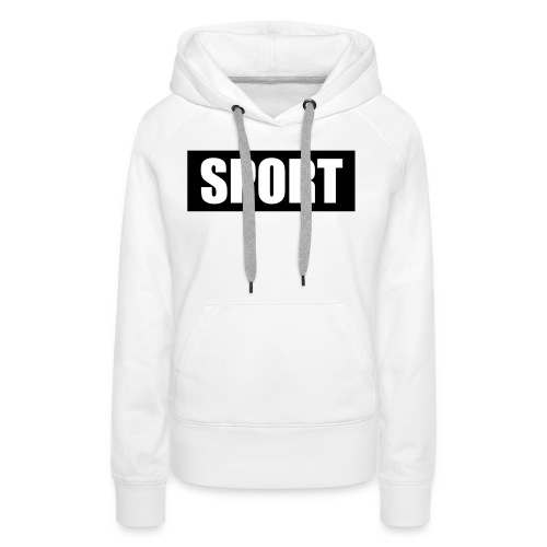 Football t-shirt black background with white text - Women's Premium Hoodie