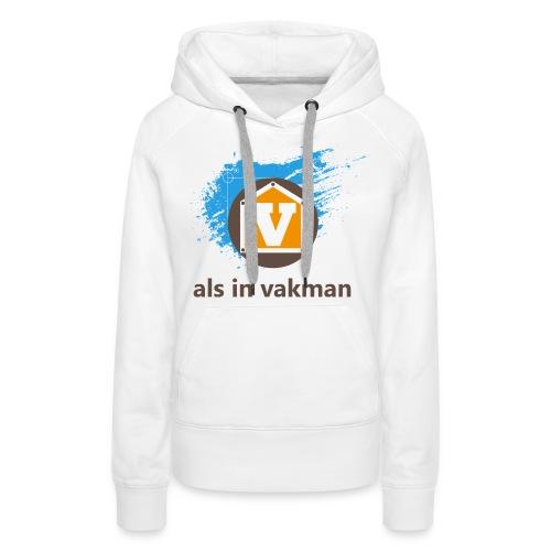 V als in Vakman - Vrouwen Premium hoodie
