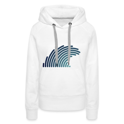 Blue Wave - Sweat-shirt à capuche Premium pour femmes