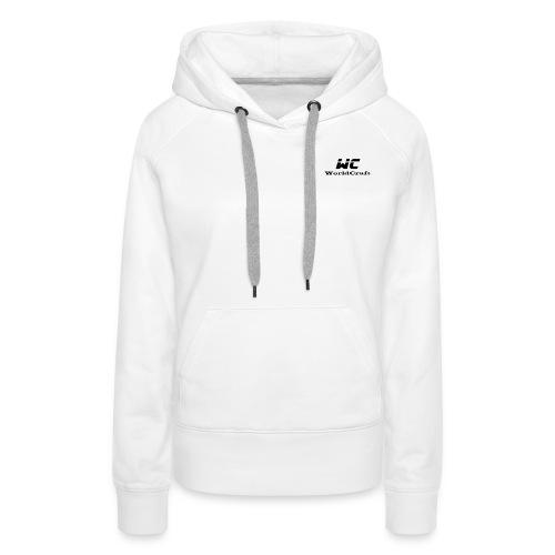 WorldCraftNoir - Sweat-shirt à capuche Premium pour femmes