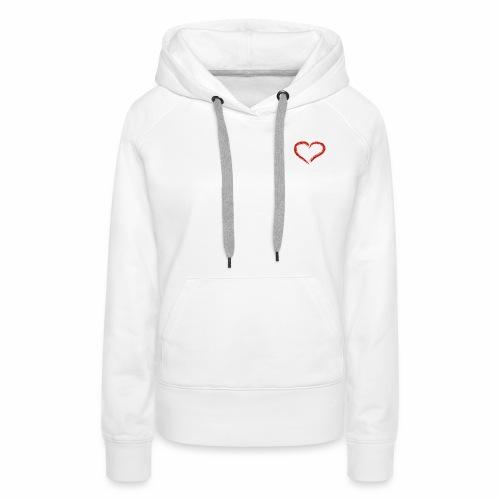 Herz Outffit - Frauen Premium Hoodie