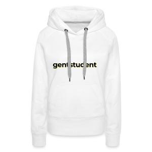 Gentstudent woordmerk licht - Vrouwen Premium hoodie