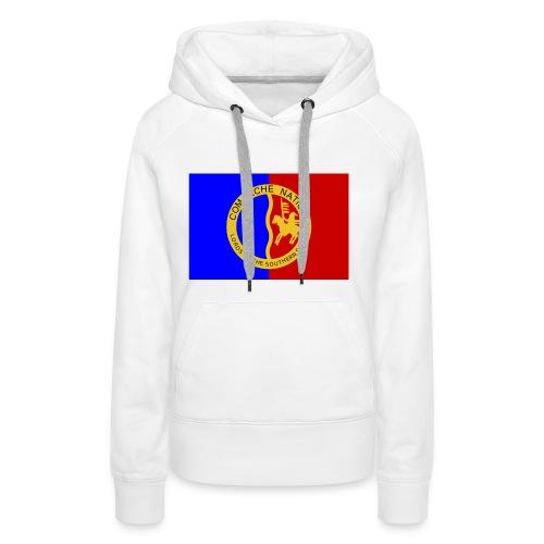 1200px Flag of the Comanche Nation svg - Sweat-shirt à capuche Premium pour femmes